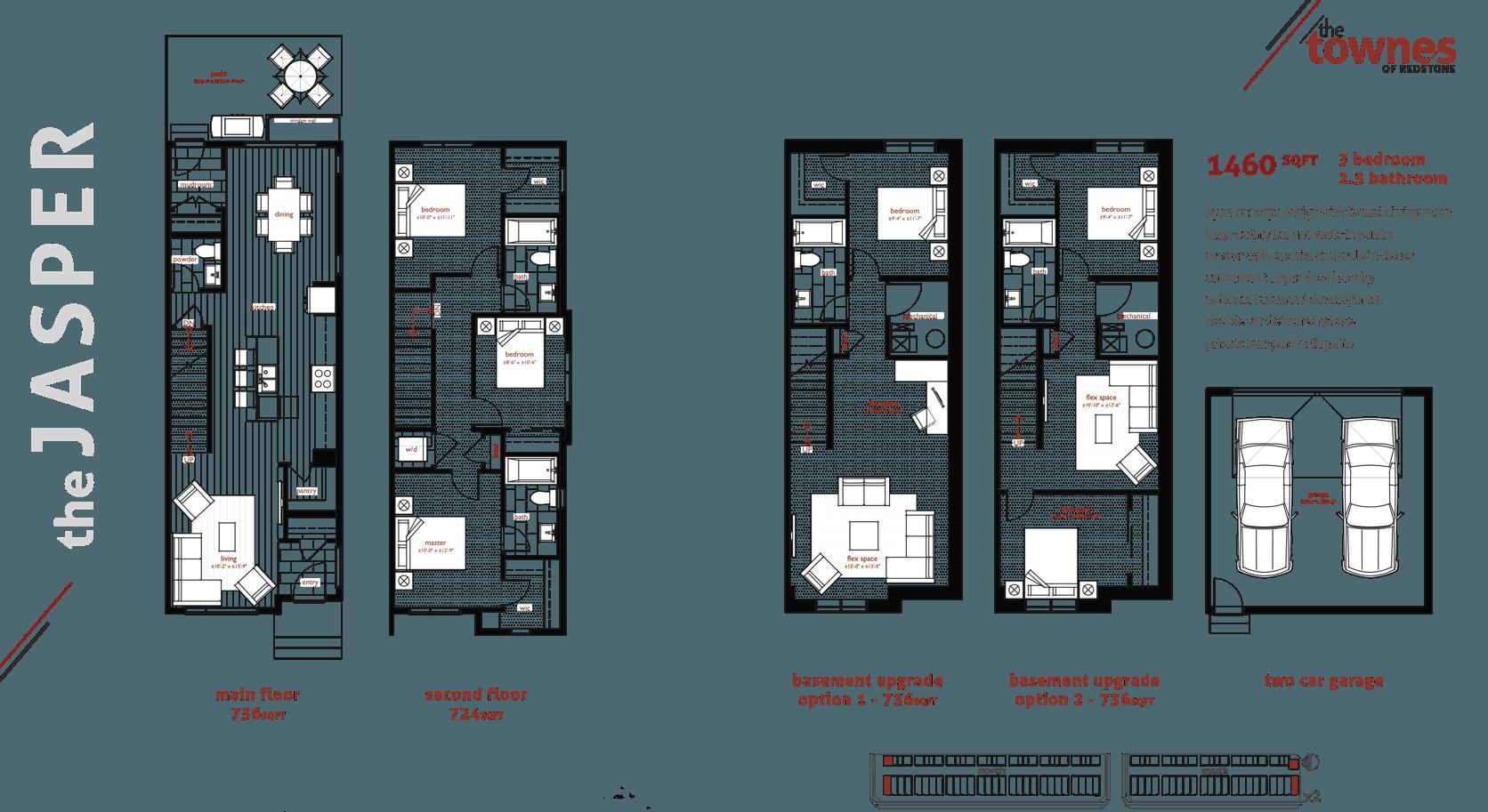 The Best Townhome Designs for Multi-Generational Living Jasper Floorplan Image