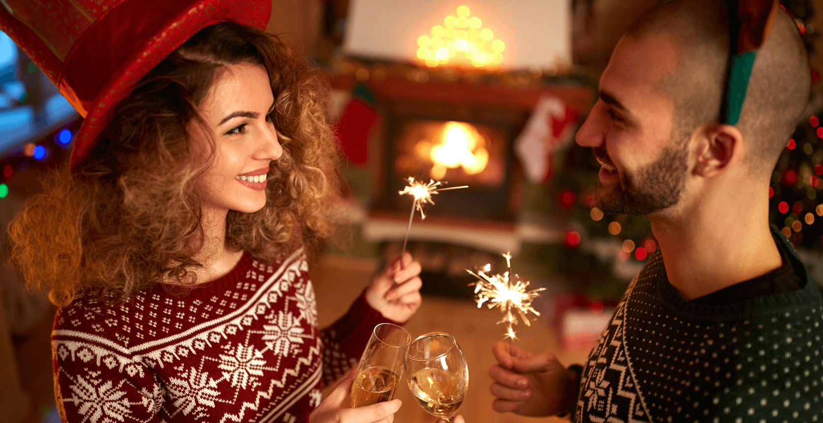 7 Fun Ways to Celebrate New Years at Home Couple Featured Image